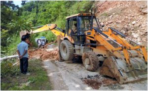 Landslide Clearance at Coco road near Doyang River