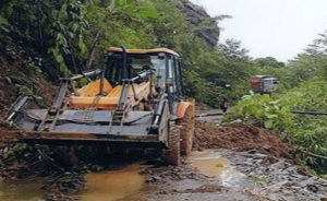 Landslide Clearance between Kilo Old and M Tsugho NH 702A.