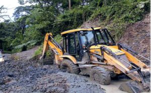 Landslide Clearance at Usuto Kohima road.