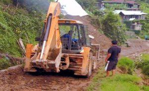 Landslide Clearance at Satakha Town NH 702A, Zunheboto.