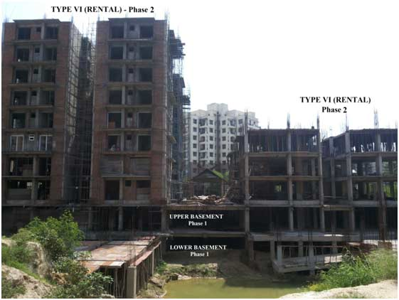 Overview of Construction of Staff Quarters at Dwarka, New Delhi (Phase I & Phase 2)