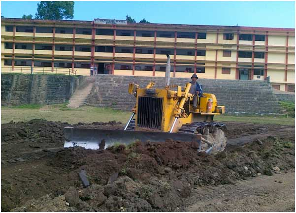 Playground Leveling at St. Joseph College Jakhama Kohima District