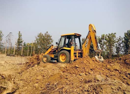 Site clearance at Vidima Kohima District