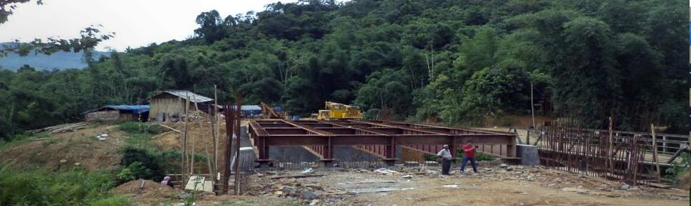 Reconstruction of Tsusangra Bridge on National Highway- 2 (old NH-61) (work in Progress) Pic 2
