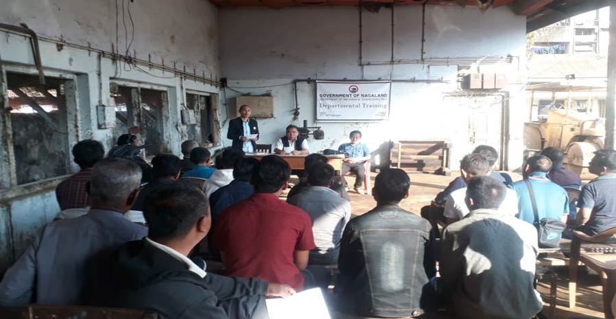 Training for operation of Heavy earth moving machineries and Road Rollers from 11-16th February 2019 at Dimapur